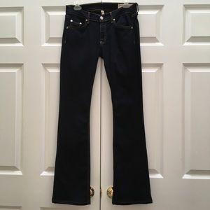 Rag & Bone Stiletto Boot Soft Harrow Wash Jeans 28